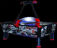 Airhockey, Comix, 238x128x81 cm, schwarz/blau/rot, kommerziell