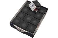 Billard-Kreide, Silver Cup, schwarz, 12er Pack