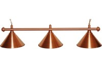 Billiard Lamp Elegance, bronze, 3 Bells, Ø 35 cm, 112 cm