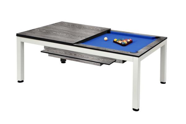 Billardtisch / Esstisch, Pool, Vancouver II, 7 ft. (Fuß), weiß/grau