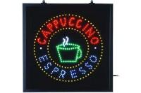 LED-Schild, Cappuccino Espresso