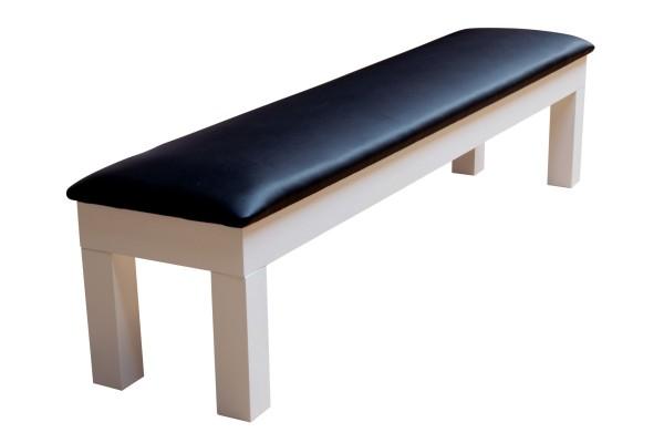 Sitzbank für Billardtisch Penelope II, 8 ft. (Fuß), weiß.glänzend