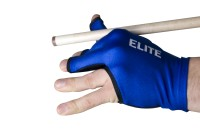 Glove Elite, 3-finger, blue, open caps