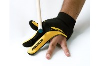 Glove Predator, 3-finger, black-yellow, S&M