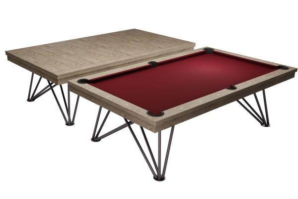 Billardtisch / Esstisch, Pool, Rasson Dauphine, gebeizte Eiche
