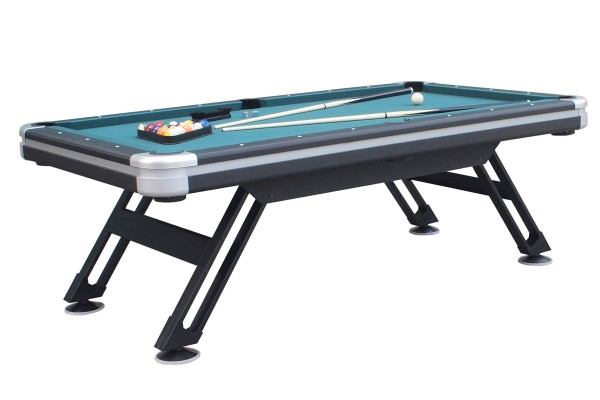 Billiard Table, Pool, Sydney II, 7 ft., black-silver