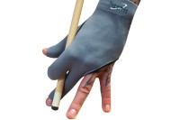 Billiard Glove, Half Finger, Dynamic Premium, 3-Finger, Black/Grey