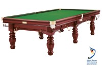 Billiard Table, Snooker, Dynamic Prince II Steelblock, Mahogany
