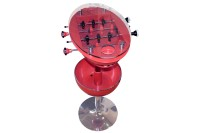 Multifunctional stand table including table football & cup holder / cooling box - Exhibit