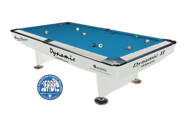 Billardtisch, Pool, Dynamic II, 7 ft. (Fuß), glänzend-weiß
