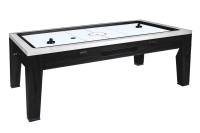 Spieltisch Mistral, 5 in 1: Airhockey, Tischtennis, Roulette, Poker, Esstisch (schwarz)