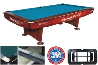 Billiard Table Dynamic II, 9 ft, brown, Pool