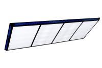 Billardlampe, Flat II, blau, 6 Neonröhren, 210 x 70 cm