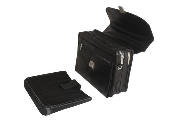 Laptoptasche, schwarz, mit Logo