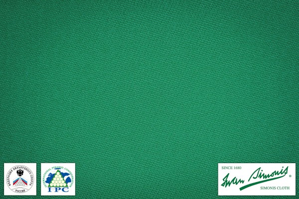 Billiard Cloth Simonis Rus Pro 950, yellow-green, 195 cm