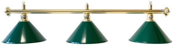 Billardlampe, Evergreen, grün, 3 Schirme, Ø 35 cm, 150 cm