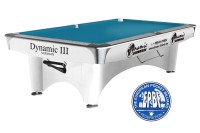 Billiard Table Dynamic III, shining white, Pool