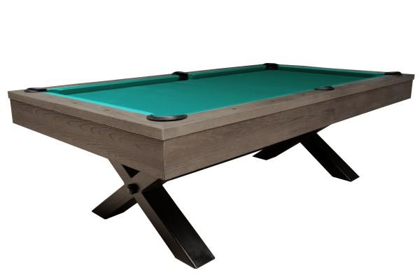 Billardtisch, Pool, Xray, 8 ft. (Fuß), gebeizte Eiche mit Grauton-Trübung