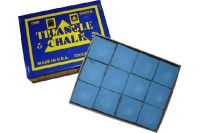 Chalk Triangle, blue, 12 pack