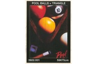 Poster, Poolballs & Triangle