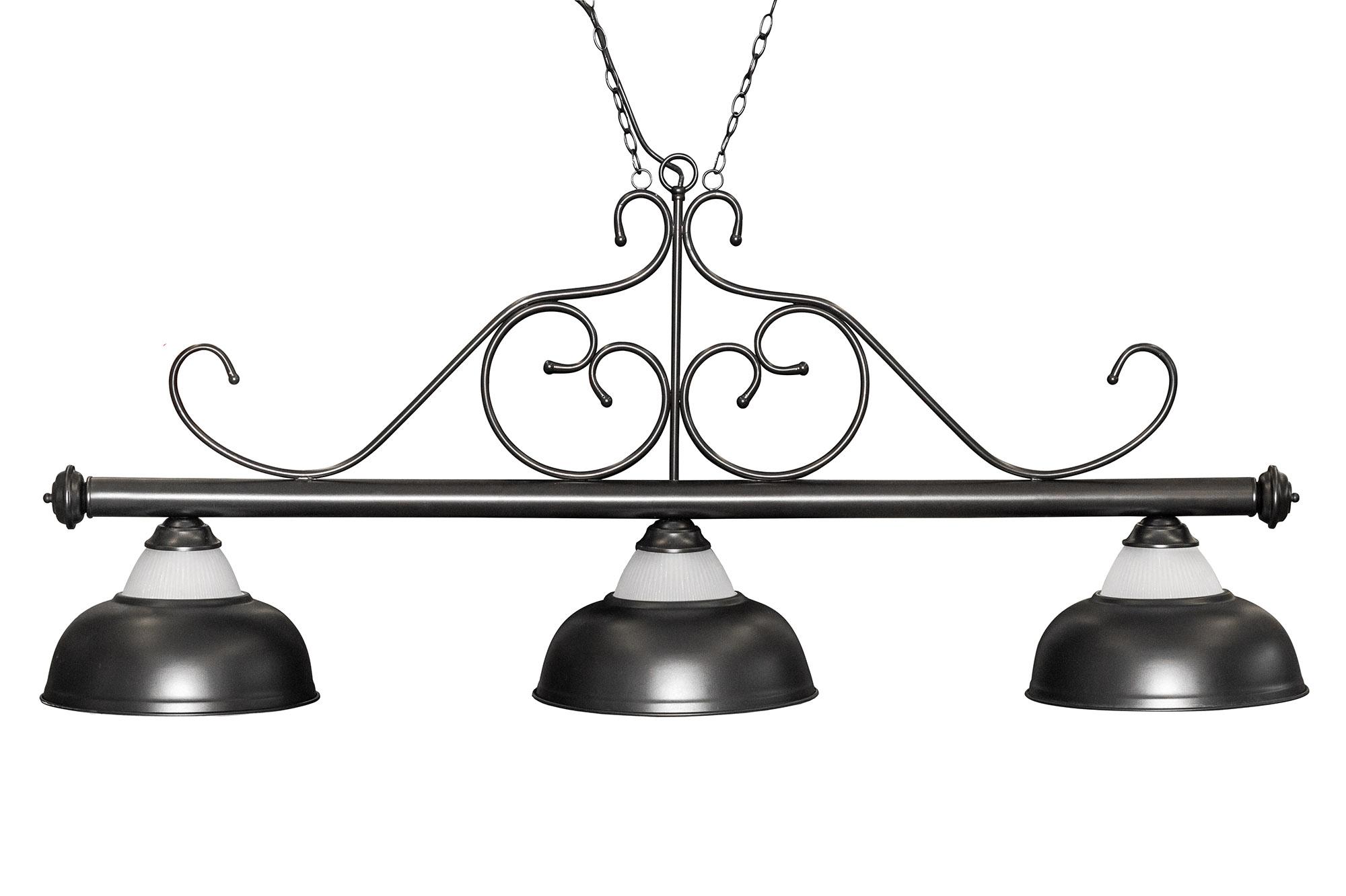 schwarz LED Flat 195 x 70 x 6,5 cm Dybior Billard Lampe