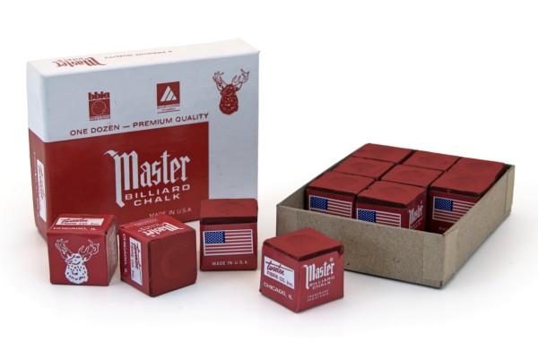 Billard-Kreide, Master, rot, 12er Pack