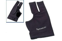 Glove Dynamic Deluxe 2, 3-finger, open, black, Lycra, leather patch