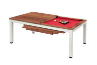 Billiard Table, Pool, Vancouver II, 7 ft., white/brown