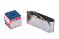 Kreidehalter, Cuetec, Magnet, MKC-1 aus Metall, silber