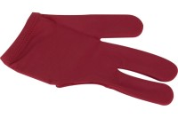 Glove Dynamic Deluxe, 3-finger, burgundy/red, Lycra