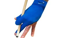 Billiard Glove, Half Finger, Dynamic Premium, 3-Finger, Black/Blue