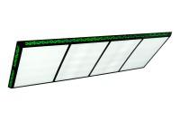Billardlampe, Flat II, grüngelb, 15 Neonröhren, 300 x 120 cm