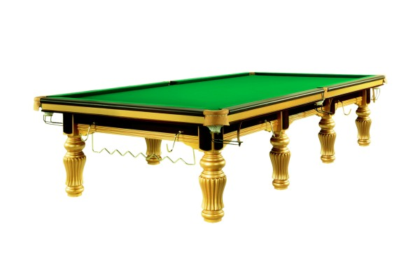 Billiard Table, Snooker, Dynamic Herkules, Including Steel Cushions, Gold