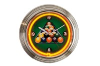 Neon billiard clock, NBU-6