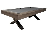 Billiard Table, Pool, Xray, 8 ft., Grey Oak