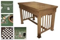 Multifunctional game table, oak - Exhibit