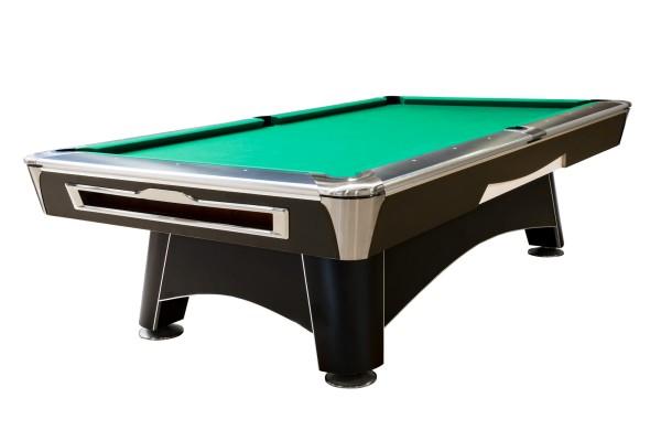 Billardtisch, Pool, Hurricane, 9 ft. (Fuß), matt-schwarz