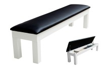 Seat Bench for Billiard Table Penelope II, 8 ft., Shining White