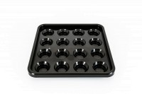 Ball Tray BTPy-1, for 68 mm Balls, black, Pyramid