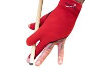 Halbfingerhandschuh, Dynamic Premium, 3-Finger, schwarz/rot