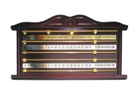 Snooker Scoreboard, mahagony