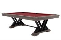 Billardtisch, Pool, Rasson Vienna, 8 ft. (Fuß), gebeiztes Holz mit Grauton-Trübung
