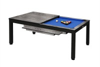 Billiard Table, Pool, Vancouver II, 7 ft., black/grey