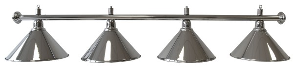 Billardlampe, Elegance, silber, 4 Schirme, Ø 35 cm, 180 cm