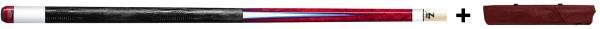 Billiard Cue, Pool, Predator LE Roadline 9, 314-3, Radial incl. soft Urbain Case, 2/4, red