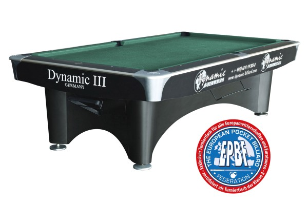 billiard table dynamic iii 9 ft black matt finish pool second rh dynamic billard de