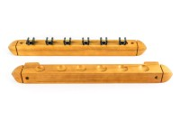Billiard Cue Rack Roman, oak, 40 cm, for 6 Clips