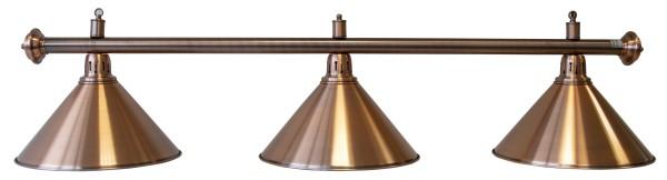Billardlampe, Elegance, bronze, 3 Schirme, Ø 35 cm, 150 cm
