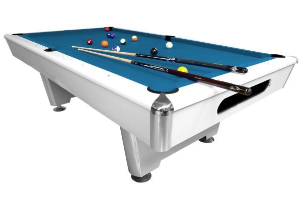 Billardtisch, Pool, Triumph, matt-weiß