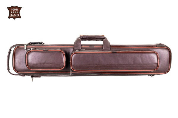 Cue Soft Case, Bear, real leather, dark brown, 3/5, 83 cm